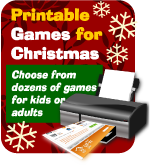 Printable Christmas Games, shop print games now onsite