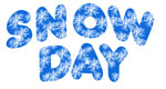snow day word art winter graphic