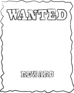 wanted poster template black and white