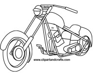 harley chopper motorcycle clip art black and white