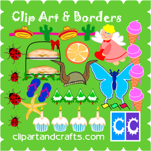 Clip art for crafters and scrapbooks