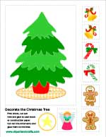 Let's decorate the Christmas tree kids activity sheet