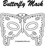 Butterfly mask template, printable pattern ClipArtandCrafts.com