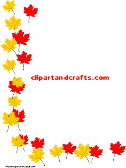 Fall Leaves border paper printable border paper sheet