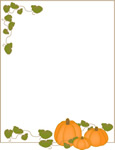 Harvest pumpkin border sheet