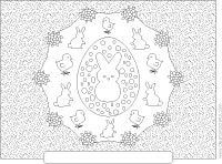 Easter poster or placemat adult coloring sheet