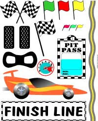 Race car word art collection
