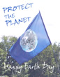 Earth day flag photo greeting card