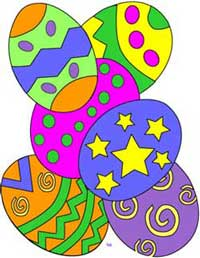 Easter eggs graphic, easter clip art collection