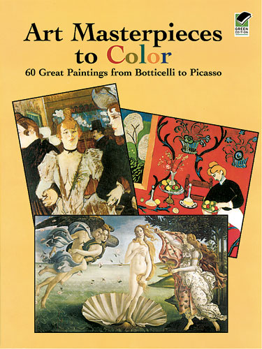 Fine Art Masterpieces to color in