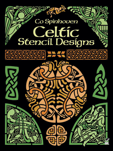 Celtic stencils designs for art, tattoo or coloring