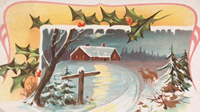 Christmas Eve Snow Scene Card